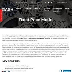 Fixed Price Model - Website & Mobile Application Development