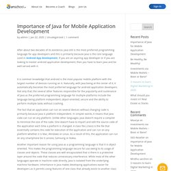 Importance of Java for Mobile Application Development - Unschool
