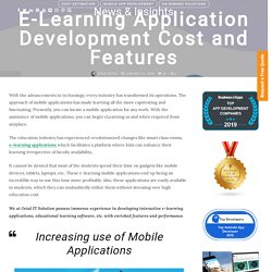 E Learning Application Development Cost and Features