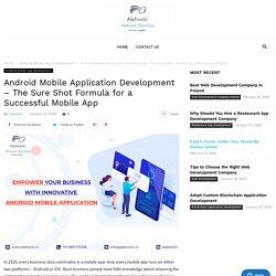 Andoird Mobile Application Development Company