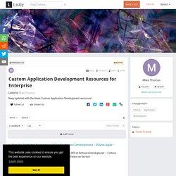 Custom Application Development Resources for Enterprise