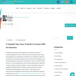 Custom CRM Application Development in India