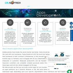 Mobile Application Development Company Delhi, Noida, Bangalore, India, UK and USA