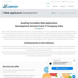 Custom Web Application Development Company India, USA, UK
