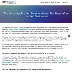 The Odoo Application Development: The Need of an Hour for Businesses