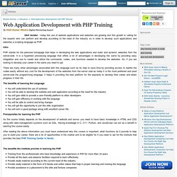 Web Application Development with PHP Training