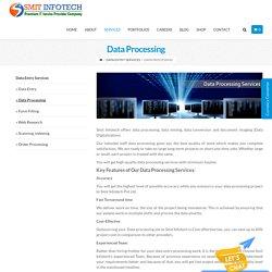 Data Processing – Website & Application development