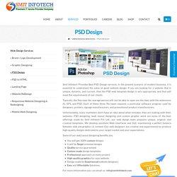 PSD Design – Website & Application development