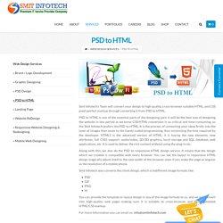 PSD to HTML – Website & Application development
