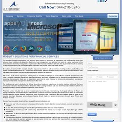 Financial Mobility Solutions, Mobility Solutions for Financial, Financial Mobile Application Development