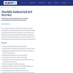 Industrial Application Development Services - Machfu IIoT Solutions