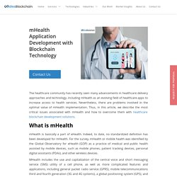 mHealth Application Development with Blockchain Technology