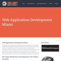 Web Application Development Company in Miami, Florida