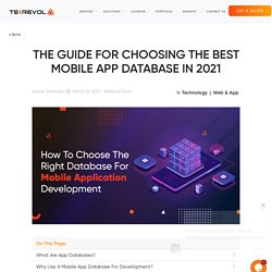 How To Choose The Right Database For Mobile Application Development