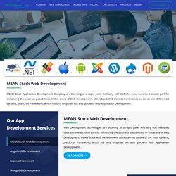 Outsource MEAN Stack web application Development Company - Silicon Valley
