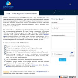 PHP Laravel Application Development