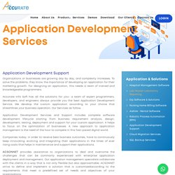 Best Application Development Support and Services in India - Acsonnet.com