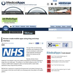 Nurses build mobile apps through mobile application development platform