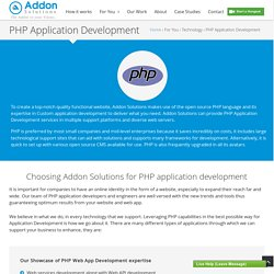 PHP Web Application Development Company, India