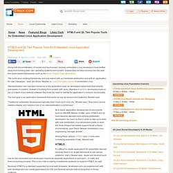 HTML5 and Qt, Two Popular Tools for Embedded Linux Application Development