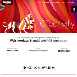 Trionn Design | A Design Studio : Website Design, UI/UX, Brand & Graphic Design, Web and Mobile Application Design, HTML5, CSS3, jQuery Development Company located in Rajkot, Gujarat, INDIA