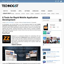 6 Tools for Rapid Mobile Application Development