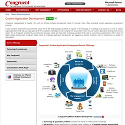 Custom Application Development Services Available at Congruent