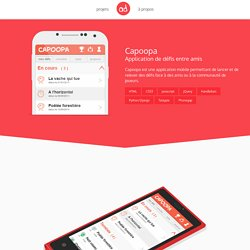 Capoopa : Application de défis entre amis