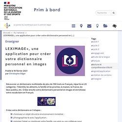 LEXIMAGE+, une application pour créer votre dictionnaire personnel en images - Prim à bord