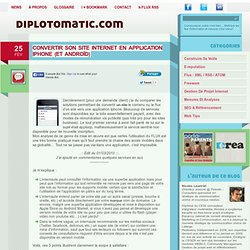 Convertir son site internet en application Iphone (et Andro?d) | Diplotomatic.com