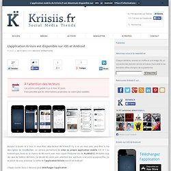 L'application Kriisiis est disponible sur iOS et Android