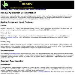 HandVu Application Documentation
