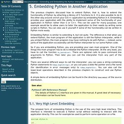 5. Embedding Python in Another Application