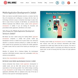 Mobile Application Development In Jeddah - Dubaibrillmindz