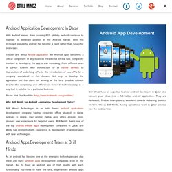 Android Application Development In Qatar - Dubaibrillmindz