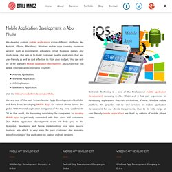 Mobile Application Development In Abu Dhabi - Dubaibrillmindz