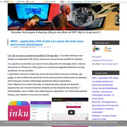 INKU : application IOS d'aide à la saisie de texte pour personnes dyslexiques
