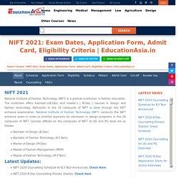 Nift 2021 Exam