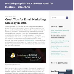 Best Email Marketing Strategy in 2016
