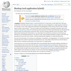 Mashup (web application hybrid) - Wikipedia, the free encycloped