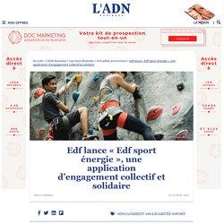 Edf lance « Edf sport énergie », une application d'engagement solidaire
