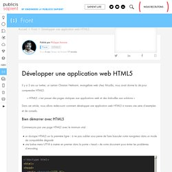 Développer une application web HTML5 - Publicis Sapient Engineering - Engineering Done Right