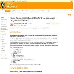 Single Page Application (SPA) for Enterprise App (Angular2 & WebApi)
