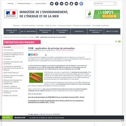 OGM : application du principe de précaution - Ministère de l'Environnement, de l'Energie et de la Mer