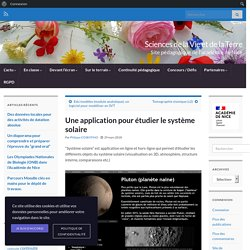 Une application pour étudier le système solaire