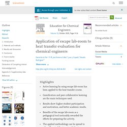 Application of escape lab-room to heat transfer evaluation for chemical engineers