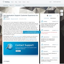 Get Application Support Customer Experience for Garmin / Blog by laracraft / Weblog