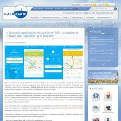 Airparif Itiner'AIR : connaître et réduire son exposition à la pollution