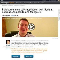 Build a real-time polls application with Node.js, Express, AngularJS, and MongoDB