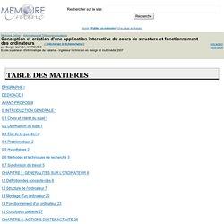 Conception et création d'une application interactive du cours de structure et fonctionnement des ordinateurs - Sergio ILUNGA MUTOMBO